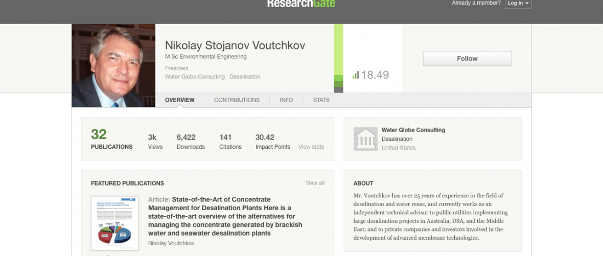 Research Gate N Voutchkov